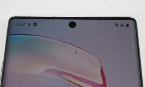 Samsung phone with under-display camera