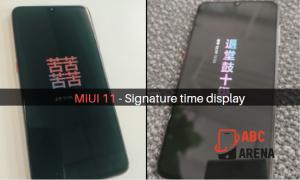 MIUI 11 to get signature time display