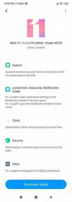 Xiaomi Redmi 7 update