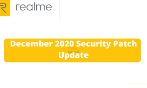 Realme December 2020 patch